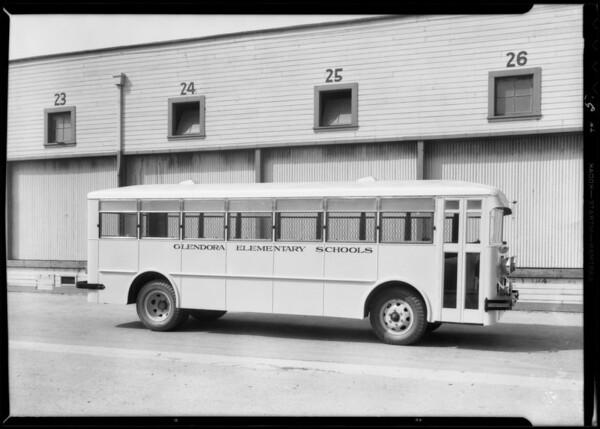 Glendora school buses, Crown Body Corporation, Southern California, 1933