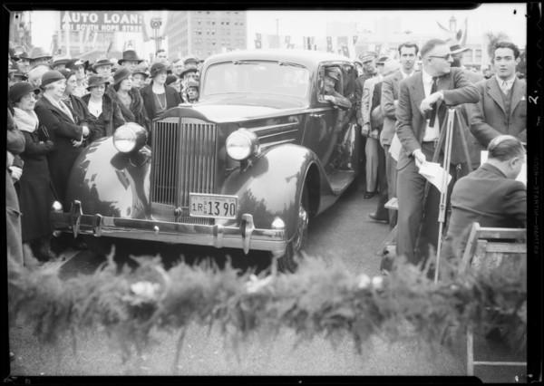 Opening of Westlake Bridge with Roscoe Turner, Southern California, 1934