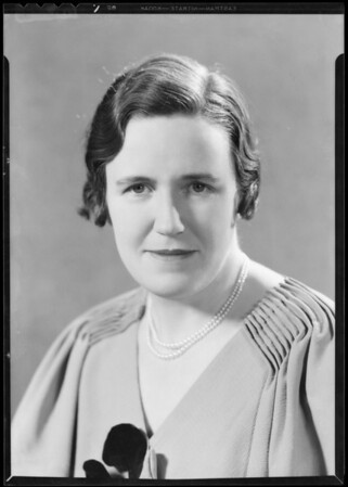 Portrait, Ida Templeman, Southern California, 1933