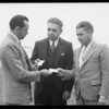 Initiating councilmen into club, Southern California, 1933