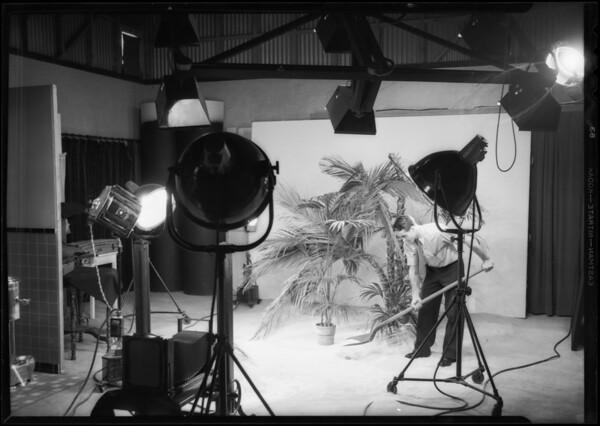 Hawaiian scene in studio, Southern California, 1932
