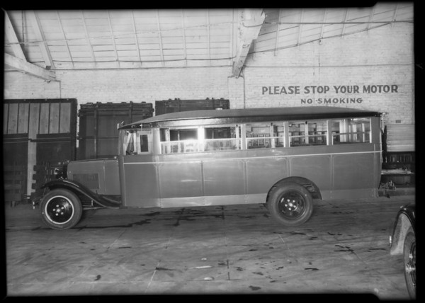 Bus, Langlois Bros., Southern California, 1931