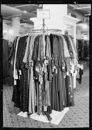 Dress rack, May Co., Southern California, 1933