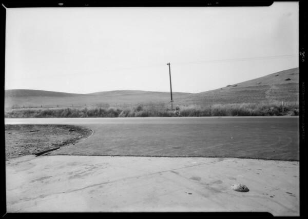 Case of Flint vs. Goldner, Valley Boulevard at Brea Canyon Road, Walnut, CA, 1932