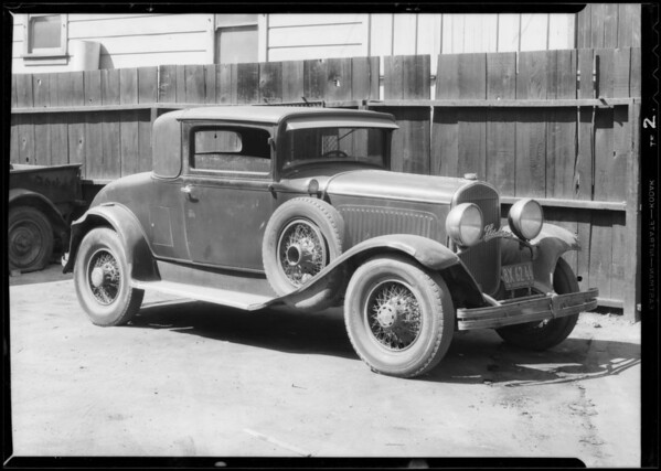 Chrysler coupe, Commercial Standard, Southern California, 1933