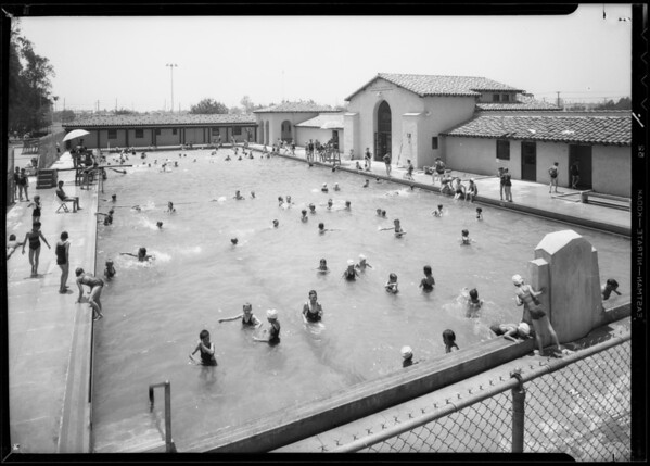 Manchester playground pool, Southern California, 1932