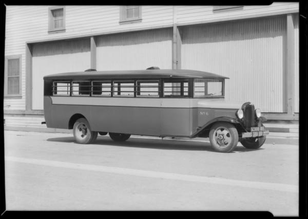 School bus #6, Southern California, 1931