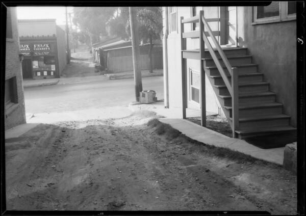 Rear alley to Cummings Apartments, 1348 Ingraham Street, Los Angeles, CA, 1933