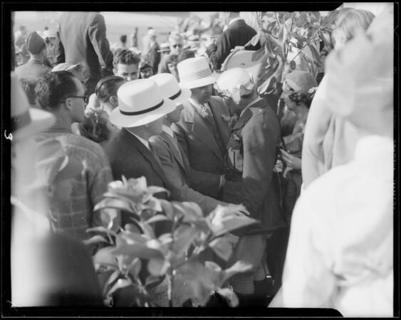 Mr. Sebastian at national air races, Southern California, 1933