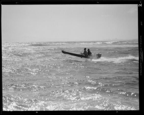Outboard motoring at Alamitos Bay, Long Beach, CA, 1932