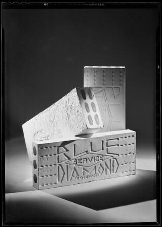 Plaster blocks, Southern California, 1931