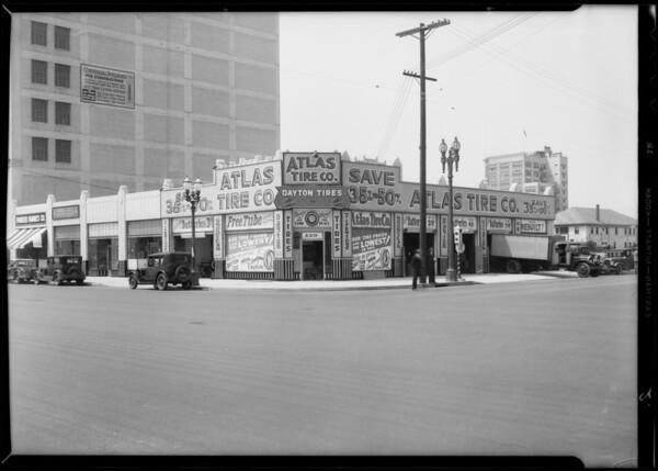 Tire stores, Los Angeles, CA, 1932