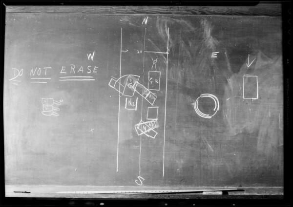 Blackboard, Dunkin vs. Norton, Southern California, 1933