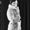 Model fur coat, Southern California, 1931