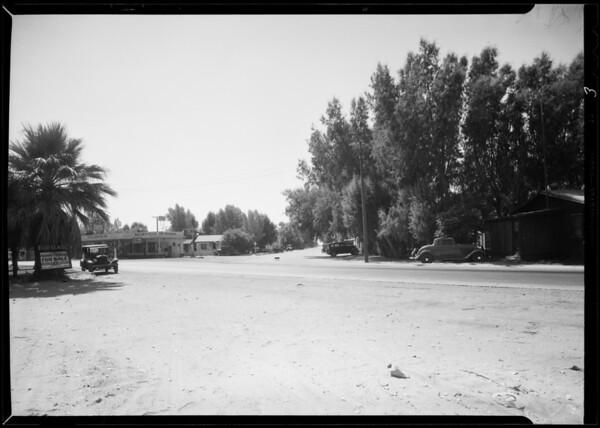 Intersection in Indio, Golden Eagle Lines vs. Evelyn Sawyer, file #AL3446, Indio, CA, 1933