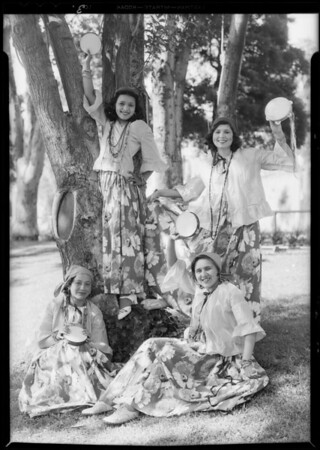 Echo Park children, Rose Bowl festival, Los Angeles, CA, 1932