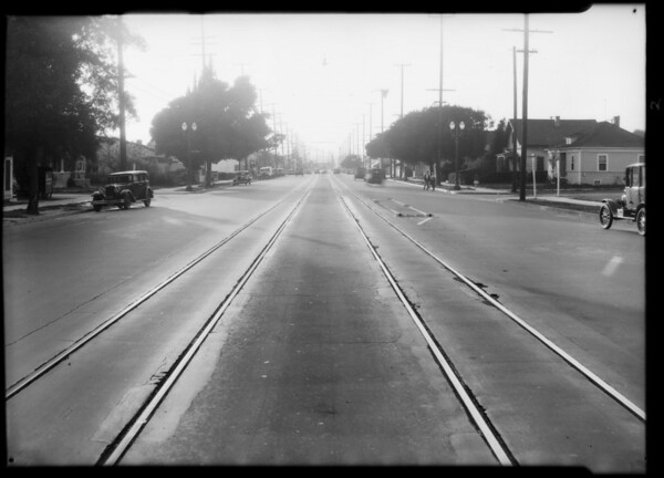 Intersection, York Boulevard and Milwaukee Avenue, Lincoln vs. Grossman case, Los Angeles, CA, 1932