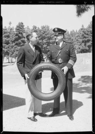 Chief Davis and pistol team and Mr. Dillon, Frank Dillon Tire Co., Southern California, 1934