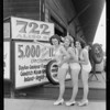 Publicity with girls, Pacific Railway & Steamship, Southern California, 1933
