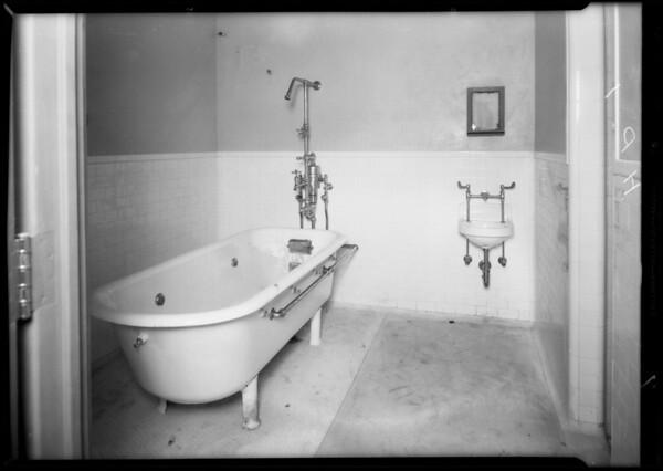 Plumbing at County Hospital, Howe Bros., Los Angeles, CA, 1932