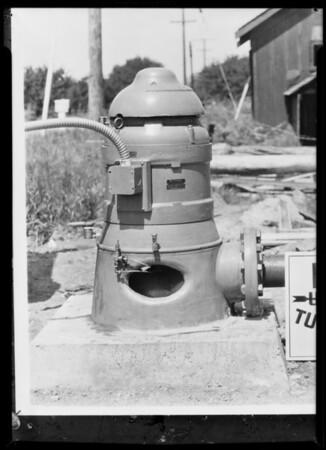 Pump installation, Southern California, 1931