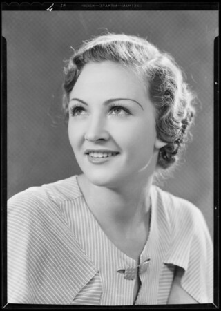 Portrait of Evelyn Mackert, Southern California, 1933