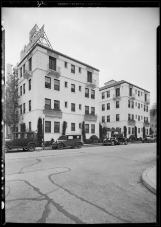 Apartments, buildings, etc., Southern California, 1931