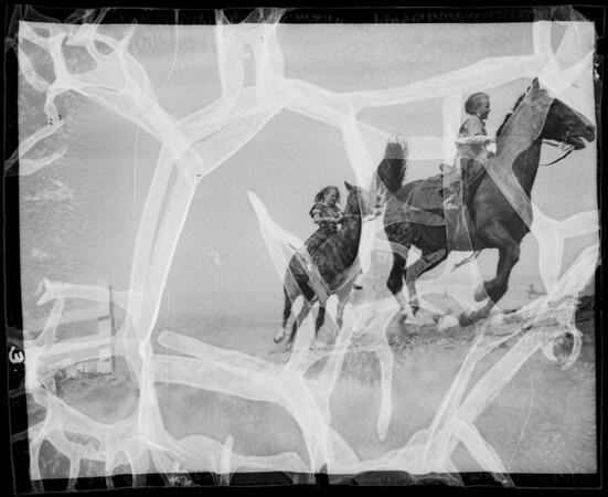 Children on the ranch, Rancho Palos Verdes, CA, 1935