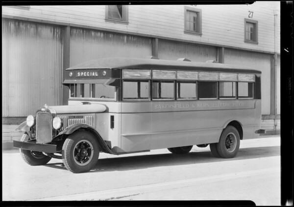 Bakersfield & Kern Electric Railway bus, Southern California, 1931