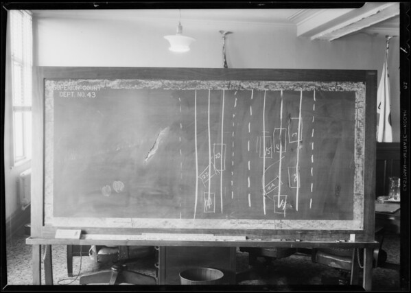 Blackboards, Caldwell vs. Anschuty, department 42 - city hall, Los Angeles, CA, 1933
