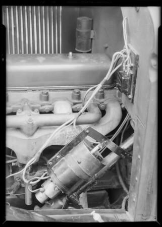 Free wheeling device on car, Southern California, 1931