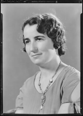 Portrait of self, Miss H.M. Loubert, Southern California, 1933
