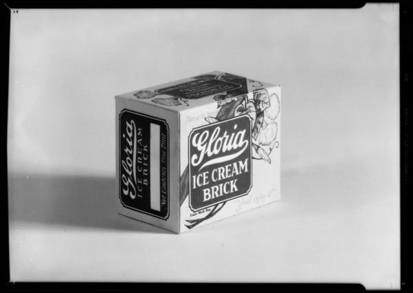 Ice cream cartons, Borden's, Southern California, 1932