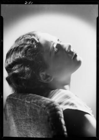 Portrait of Lynne Forrest, Southern California, 1933
