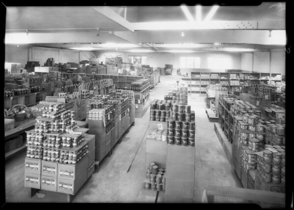 Interior of grocery store, 4120 South Broadway, Los Angeles, CA, 1932