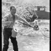 A.G. Carter of Pasadena fishing, Southern California, 1933