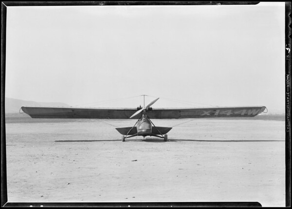 Training ships, The Cycloplane Co. Ltd., Southern California, 1931