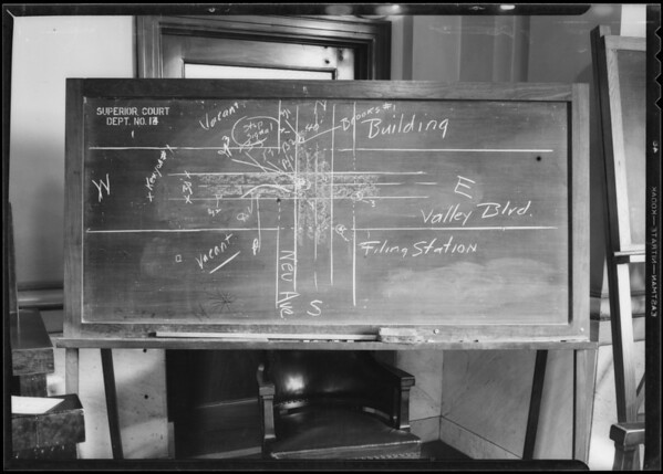Blackboard, Intersection Valley Boulevard & New Avenue, Southern California, 1932
