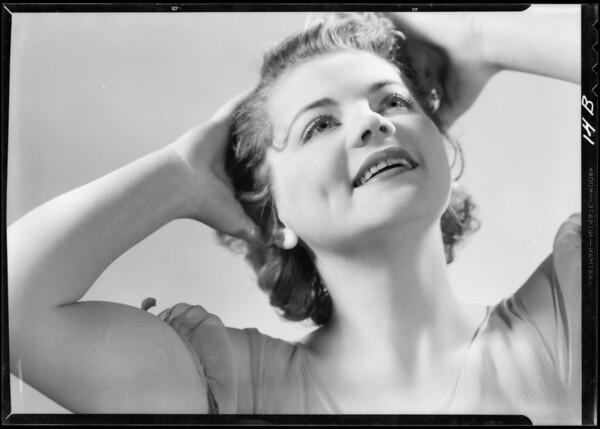 Portrait of Mavis Villiers, Southern California, 1933