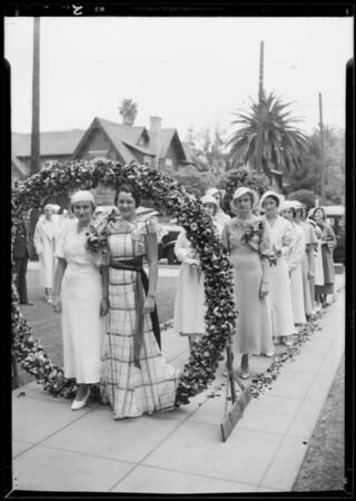 Pansy ceremony Tri Delta sorority, Southern California, 1933