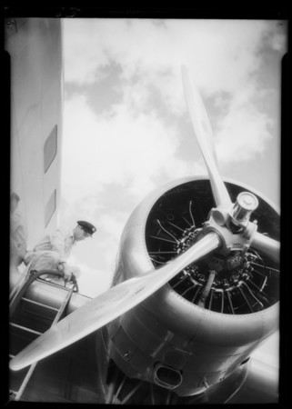 Airplane motor shots, Southern California, 1935