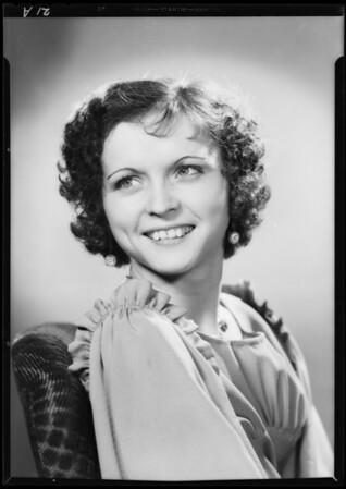 Portrait of Doris Rinard, Southern California, 1933