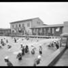 Crowd in pool, Sawtelle, Los Angeles, CA, 1931