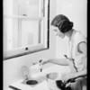 Garbage refuse receptacle in sink, Southern California, 1931