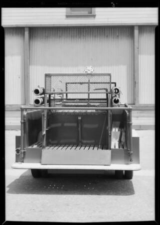 Pasadena Water Department truck, Southern California, 1932