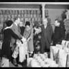 Distributing Christmas bags of food, Southern California, 1931