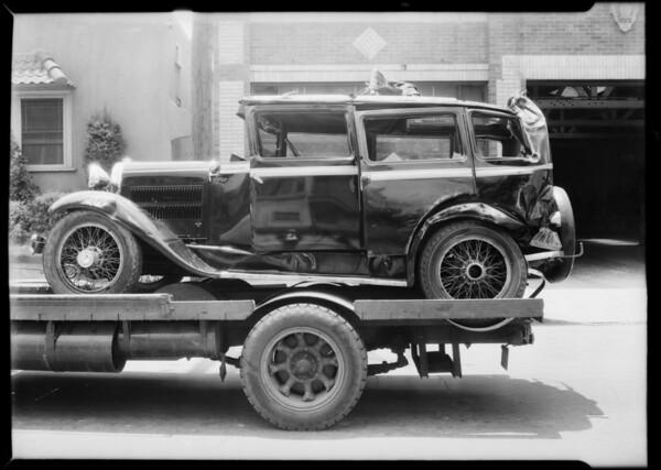 Essex wrecked, Annathz, assured, Southern California, 1932