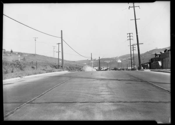 Intersection of Ranons Avenue and Fletcher Drive, Southern California, 1932