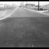 Intersection, La Crescenta Avenue, North Verdugo Road, Castera Avenue, also Packard belonging to William McNutt, Southern California, 1932