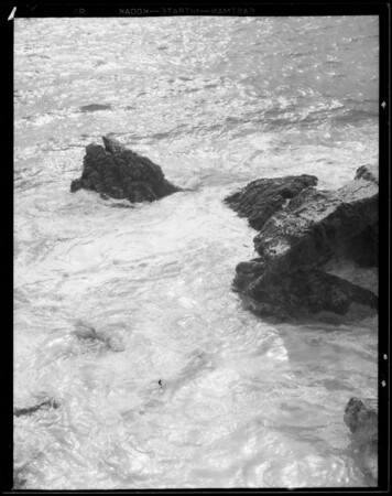 Breakers and waves on Roosevelt Highway, Southern California, 1931